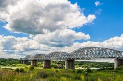 The railway bridge Stock Photo