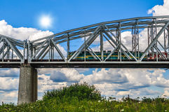 The railway bridge Royalty Free Stock Photos