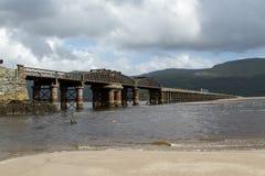 Railway bridge. Royalty Free Stock Photo