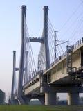 Railway bridge. TAV high speed on the river Po, Piacenza, Italy Stock Photo