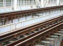 Railway on the bridge Stock Photo