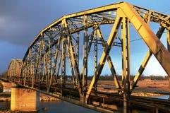Railway Bridge. A railway bridge in the evening Royalty Free Stock Photos