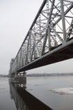 The railway bridge royalty free stock photography