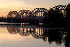 Railway bridge. Railway, bridge Royalty Free Stock Images