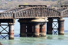 Railway Bridge. Main span of bridge stock photos