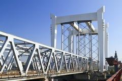 Railway bridge across the river Maas Stock Images