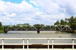 Railway bridge across the river Stock Photography