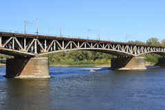 Railway bridge across the Vistula river Royalty Free Stock Photography