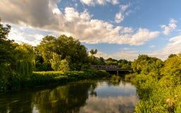 Railway Bridge B Crossing River Avon in Bradford-on-Avon. Wiltshire, England Royalty Free Stock Images