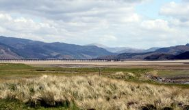Railway bridge in Barmouth Stock Photography