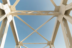 Railway bridge on the blue sky in spring. Railway bridge on the blue sky in spring Stock Image