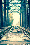 Railway bridge. Close up of railway bridge Royalty Free Stock Photography