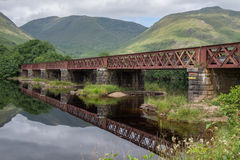 Railway Bridge crossing Loch Awe, Argyll and Bute, Scotland Stock Photos
