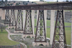 Railway Bridge designed by Eiffel Stock Images