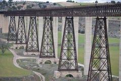 Railway Bridge designed by Eiffel. In Granada Stock Images