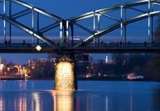 Railway bridge at dusk Stock Photos