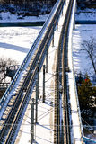 Railway Bridge in Edmonton City Royalty Free Stock Photos