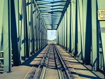 Railway bridge. Game of shadows on a railway bridge Royalty Free Stock Photos