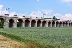 Railway bridge,Hranice,Czech Stock Images