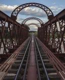 Railway bridge 2. Railway bridge (inside) over a dried river in Africa. Canon EOS 5D Mark II Royalty Free Stock Photo