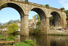 Railway Bridge at Knaresborough Stock Images
