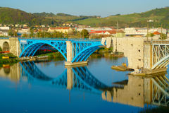 Railway Bridge In Maribor, Slovenia royalty free stock images