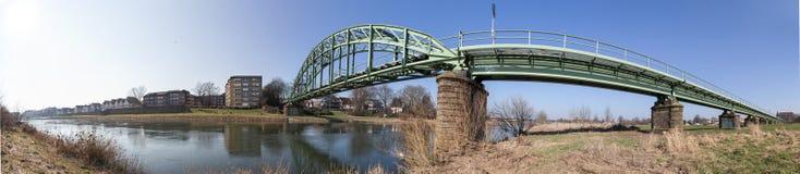 Railway bridge in minden germany high definition panorama Stock Photo