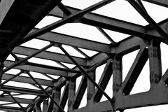 Railway bridge detail Stock Photos