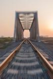 Railway bridge. The railway bridge ,motion blur Stock Photography