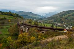 Railway bridge in the mountains Stock Images