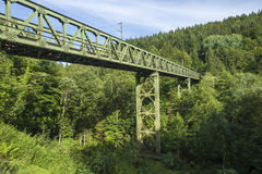 Railway bridge in the Murgtal near Forbach Royalty Free Stock Photo