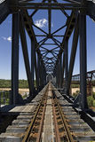 Railway bridge. New bridge over the Burdekin River near Charters Towers, Australia Royalty Free Stock Image