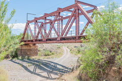 Railway bridge next to the Kromrivier Blockhouse Royalty Free Stock Image