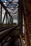 The railway bridge. Old railway bridge in Eastern Finland Royalty Free Stock Image