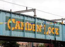 Railway bridge over Camden High Street Stock Image