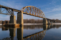 Railway Bridge. Royalty Free Stock Images