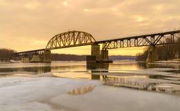 Railway Bridge. Royalty Free Stock Image