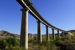 Railway Bridge. Over the mountain stock images
