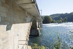 The railway bridge over The Rhine Falls, Switzerland Stock Image