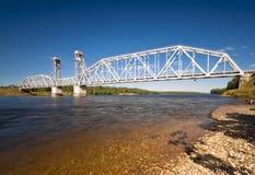 Railway bridge over river Royalty Free Stock Photos