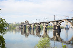 The railway bridge over the river Stock Photography