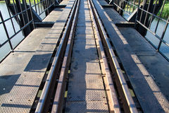 Railway Bridge over the River Kwai.Death railway, built during W Stock Images