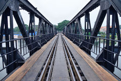 Railway bridge over the river Kwai in thailand. Royalty Free Stock Image