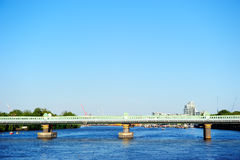 Railway bridge over the river Thames in Putney, London, England, UK Royalty Free Stock Images