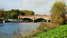 Railway Bridge over the River Thames in Richmond London Royalty Free Stock Photo