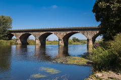 Railway bridge. Bridge over River Trent still in use Stock Photo