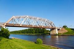 Railway bridge over the water Royalty Free Stock Photography