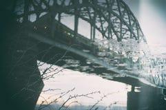 RAILWAY BRIDGE REFLECTION Stock Photography