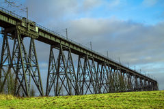 Rendsburg. Railway bridge in Rendsburg, Germany Stock Image