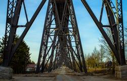 Rendsburg. Railway bridge in Rendsburg, Germany Stock Photos